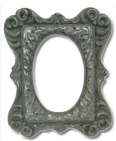 vintage silver table frame large to hire