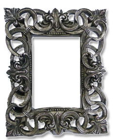 vintage pewter table frame large to hire