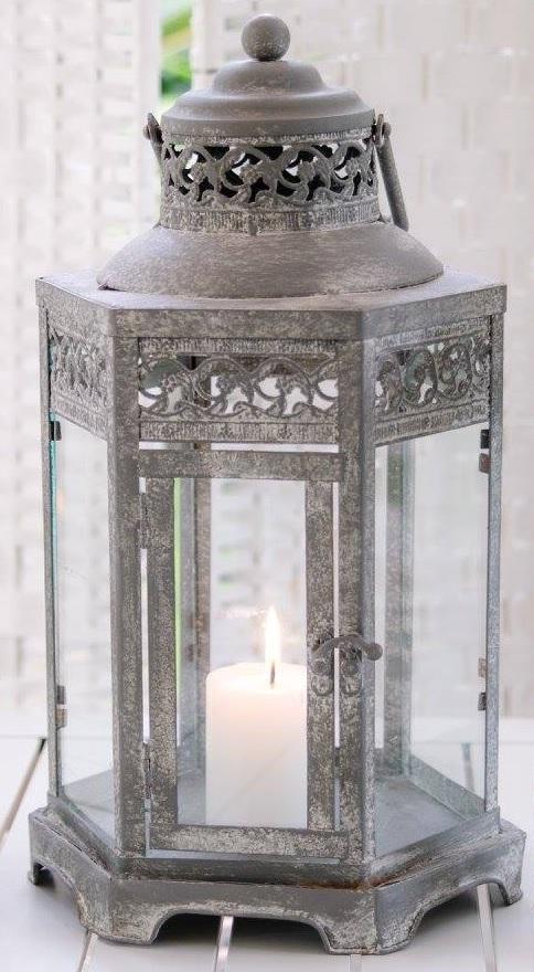 vintage metal tealight to hire