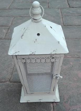 vintage grey square lantern to hire