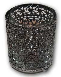 metal encased votive