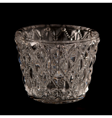 glass metal tealight to hire