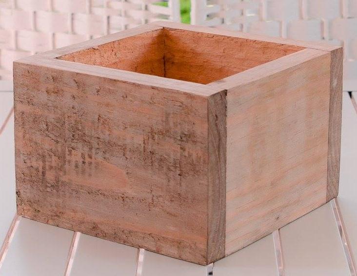wooden planter square