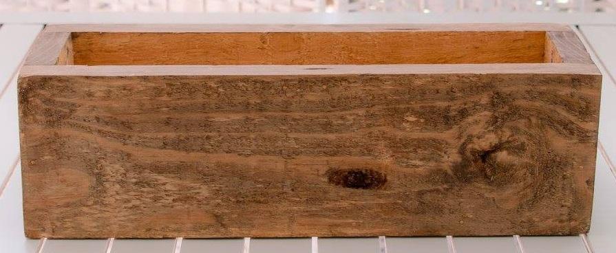 wooden planter rectangular