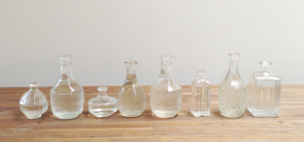 vintage bottles to hire