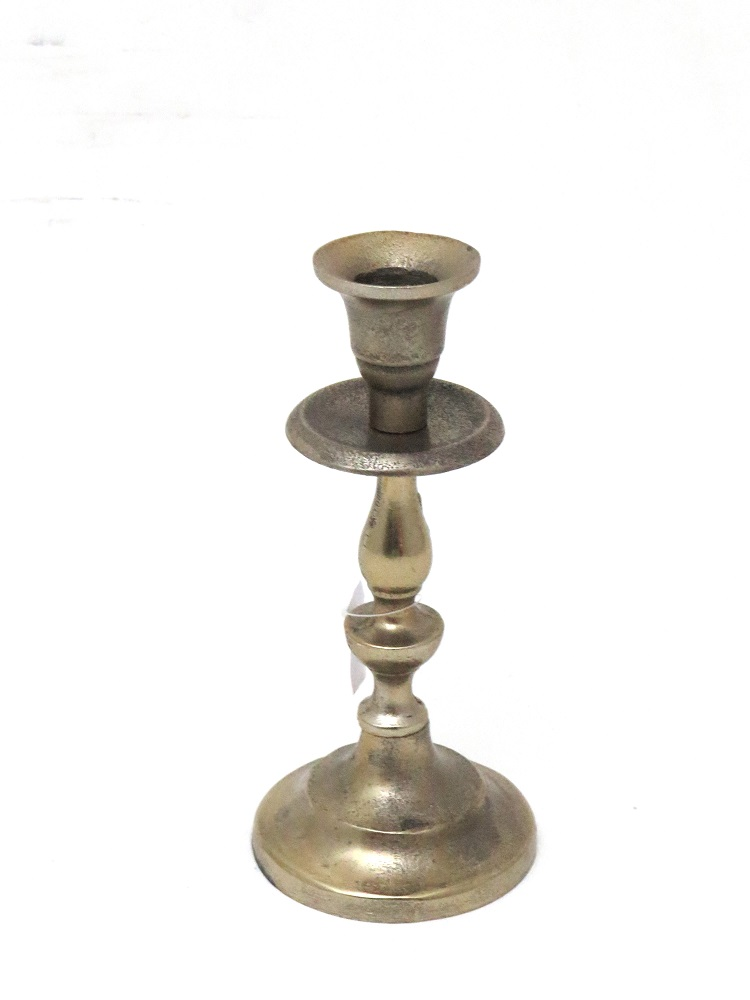 white gold candlestick to hire