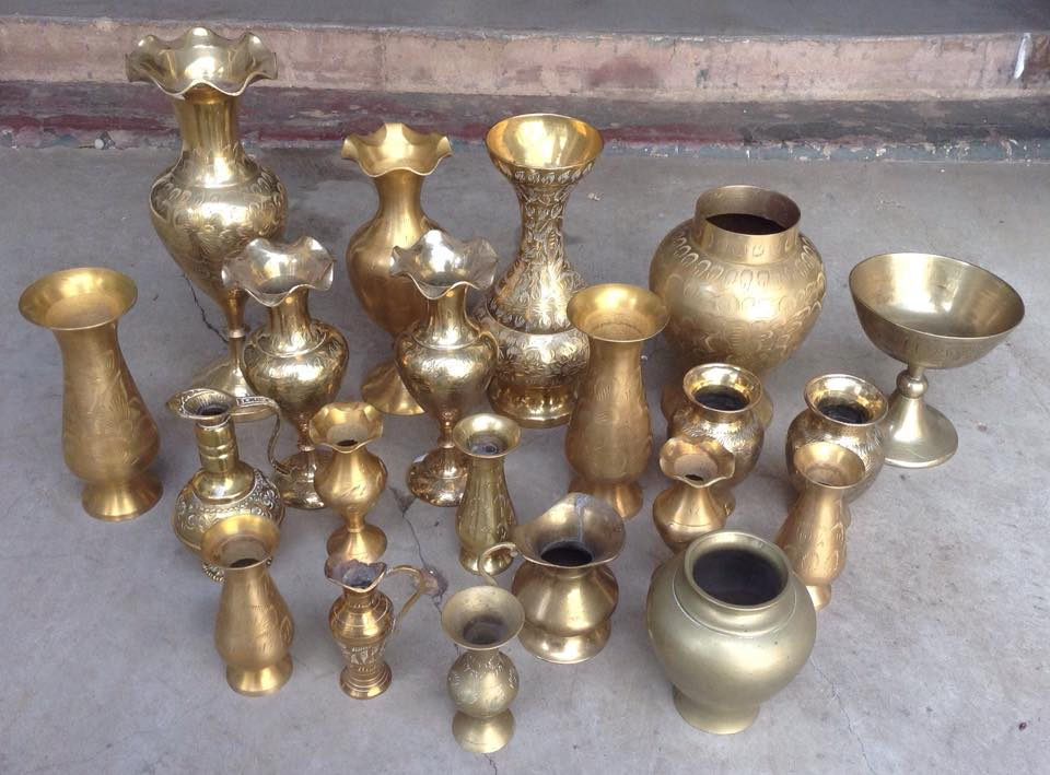 brass vessels containers to rent