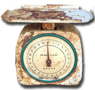 vintage scale to hire