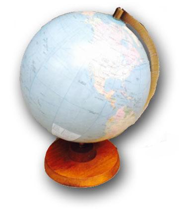 vintage travel globe